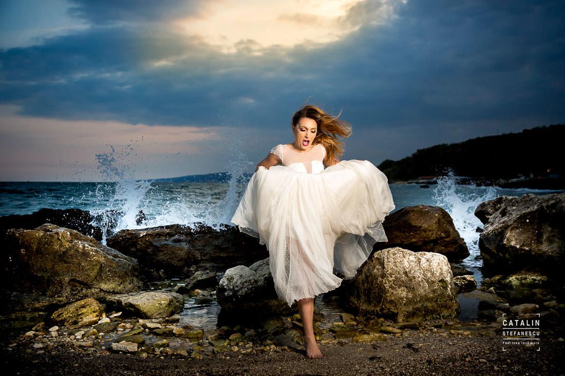 Trash the dress Balcic - Diana si Alex - Fotograf nunta Catalin Stefanescu