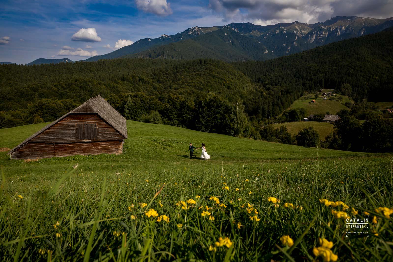 Trash The Dress Munte - Adina & Claudiu - Fotograf Nunta Bucuresti Catalin Stefanescu