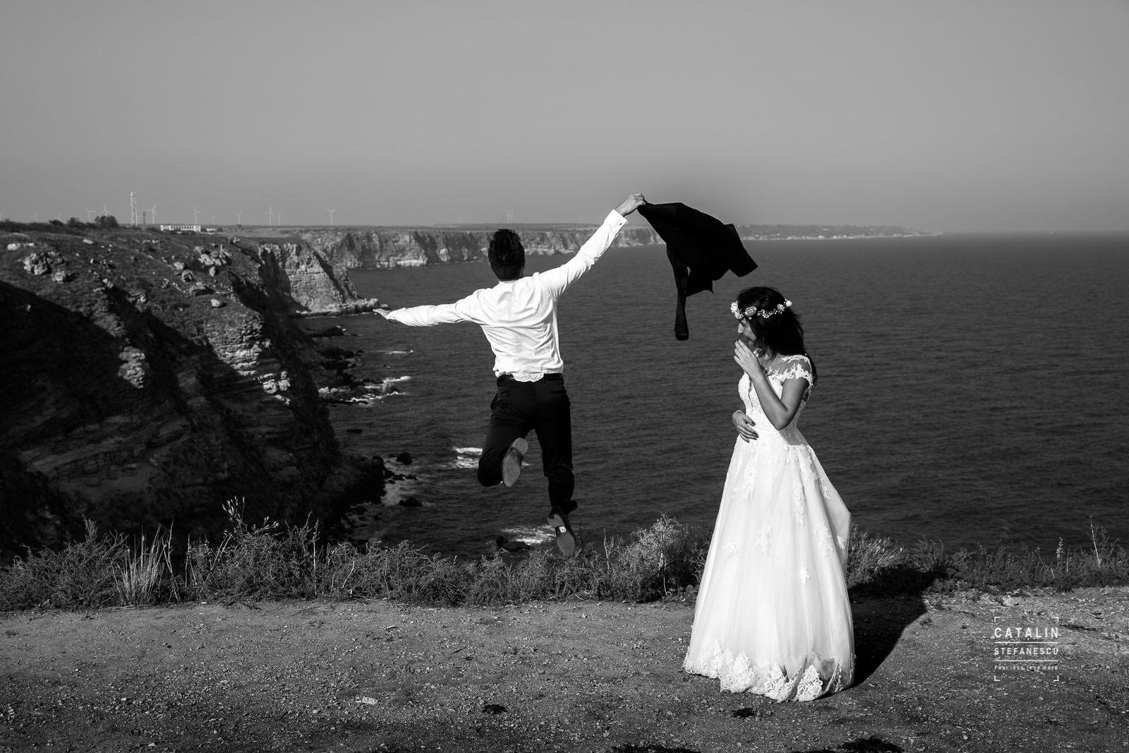 Trash The Dress Cap Kaliakra - Adela & Adrian - Fotograf Nunta Bucuresti Catalin Stefanescu